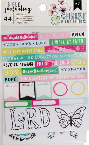 "American Crafts Bible Journaling Stickers 4""X7"" 3/Pkg"