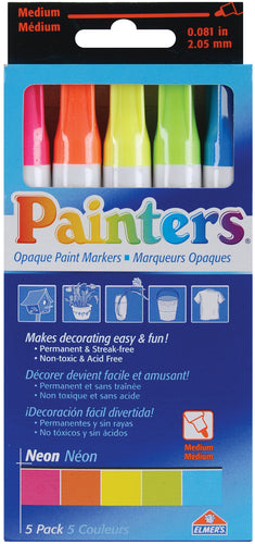 Elmer's Painters (R) Opaque Paint Markers Medium Point 5/Pk