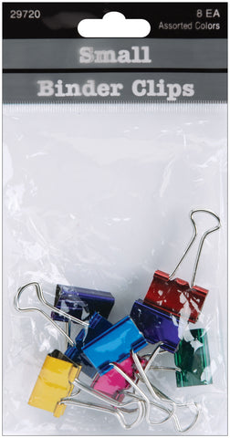 "Small Binder Clips .75"" 8/Pkg"
