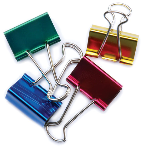 "Large Binder Clips 1.25"" 4/Pkg"