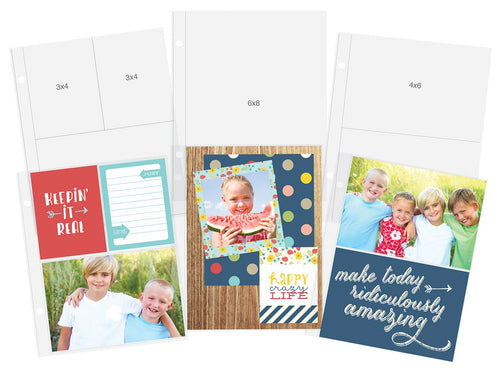 "Simple Stories Sn@p! Pocket Pages For 6""X8"" Binders 12/Pkg"