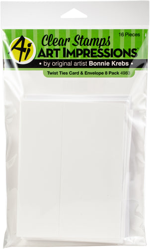 Art Impressions Twist Ties Cards & Envelopes 8/Pkg