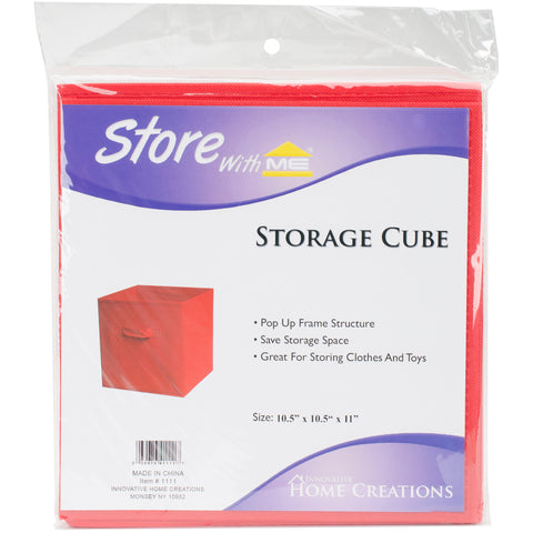 "Square Fabric Storage Cube 10.5""X10.5""X11"""