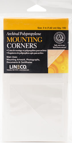 Lineco Polypropylene Photo Mounting Corners 100/Pkg