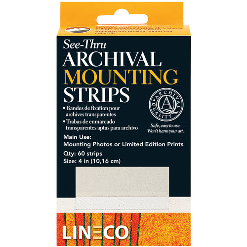 Lineco See-Thru Archival Mounting Strips 60/Pkg