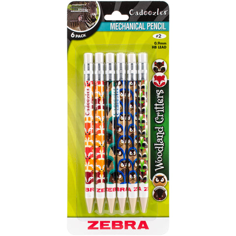 Cadoozles Mechanical Pencils 6/Pkg