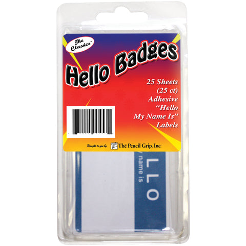 Hello My name is... Badges 25/Pkg
