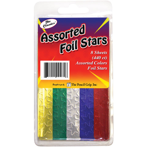 Foil Star Stickers 440/Pkg