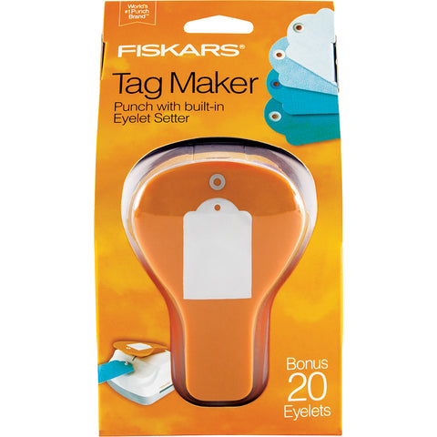 Fiskars 3-In-1 Tag Maker Punch