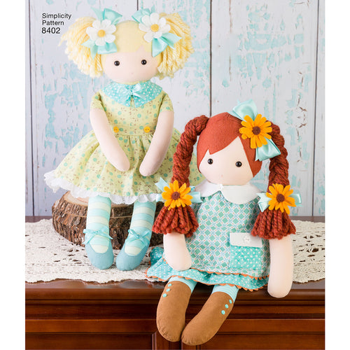 "Simplicity 23"" Stuffed Dolls With Clothes"