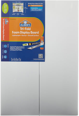 "Elmer's Tri-Fold Premium Foam Display Board 36""X48"""