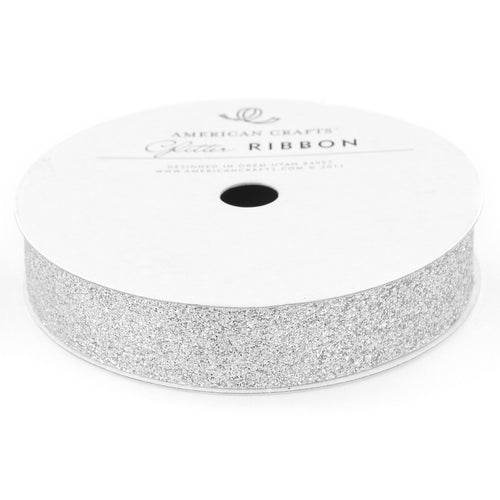 "American Crafts Glitter Ribbon .625""X3yd"