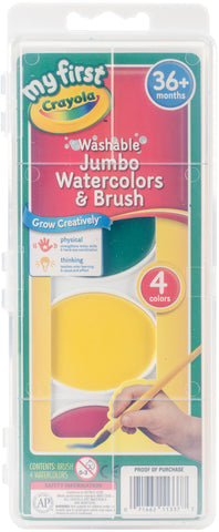 Crayola My First Washable Jumbo Watercolors & Brush Set
