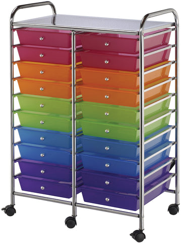 Alvin Rolling Double Storage Cart W/20 Drawers