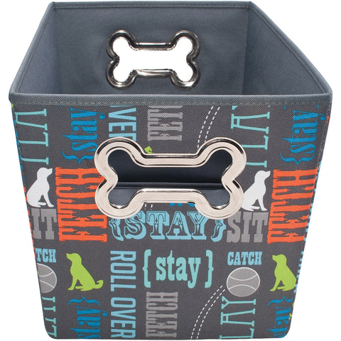 "Fabric Pet Toy Bin 14.5""X10.75""X10"""