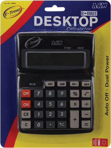 "Desktop Calculator 8-Digit 7.5""X5.75"""