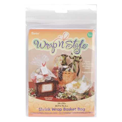 Wrap n Style Shrink Wrap Basket Bag 1/Pkg
