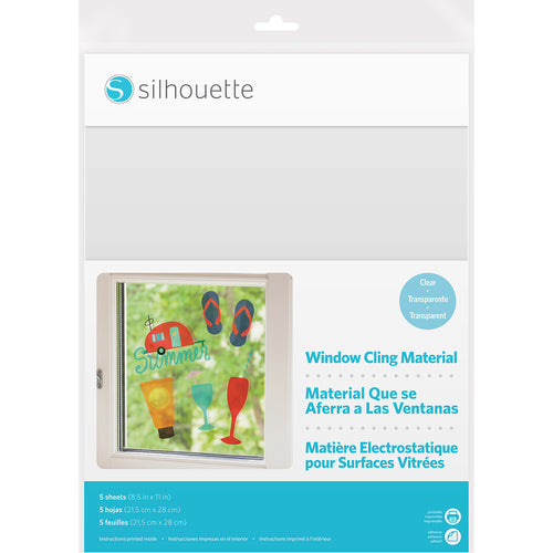 "Silhouette Printable Window Cling 8.5""X11"" 5/Pkg"