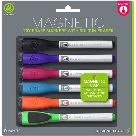 Dry Erase Medium Point Markers 6/Pkg