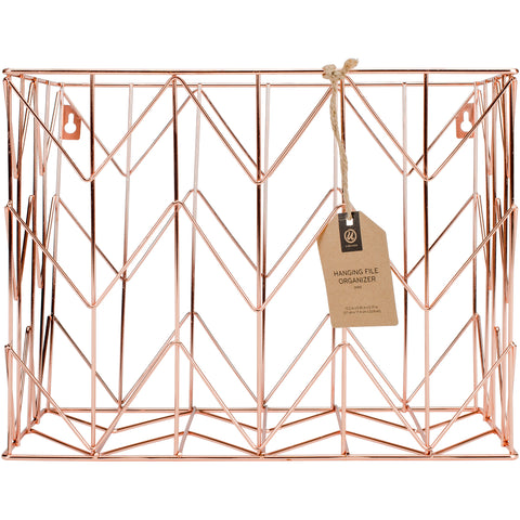 Wire Hanging File Basket 1/Pkg