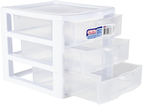Sterilite Small 3 Drawer Storage Unit