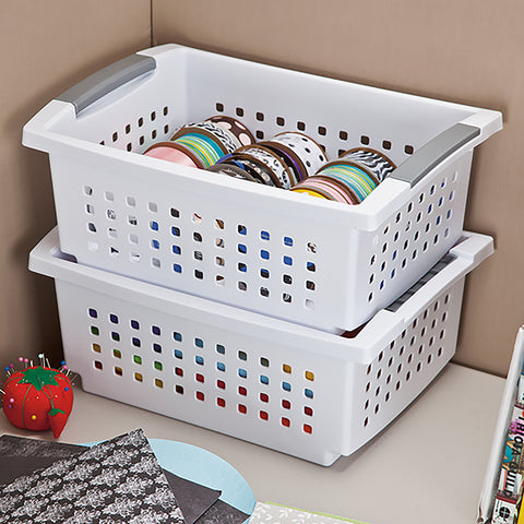 Sterilite Medium Stacking Storage Basket