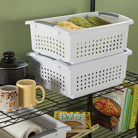 Sterilite Large Stacking Storage Basket