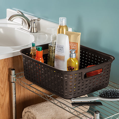 Sterilite Short Weave Storage Basket