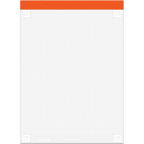 "Whitelines Graphed Legal Pad 8.5""X11.75"" 40 Sheets"
