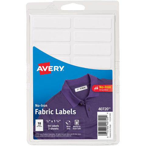 No-Iron Handwrite Fabric Labels 3 Sheets