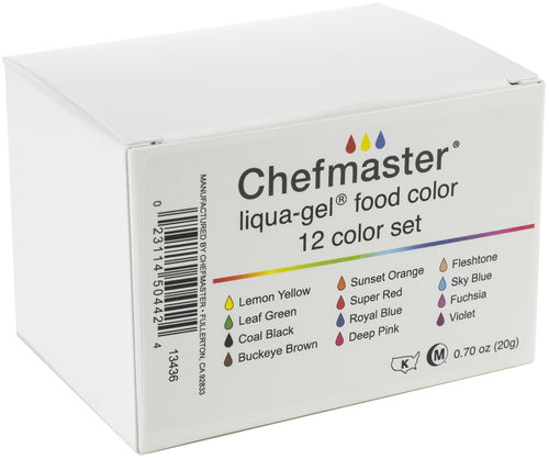 Liqua-Gel Color Kit 12/Pkg .7oz