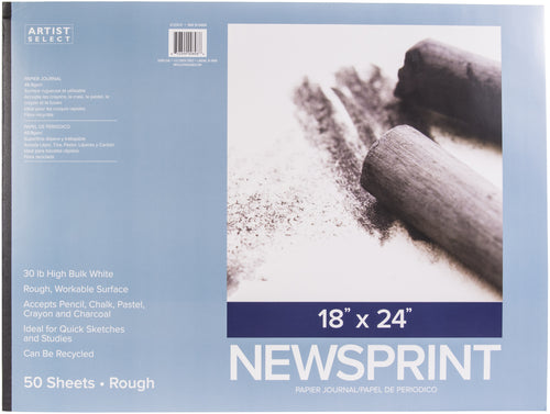 "Artist Select Newsprint Pad 18""X24"""