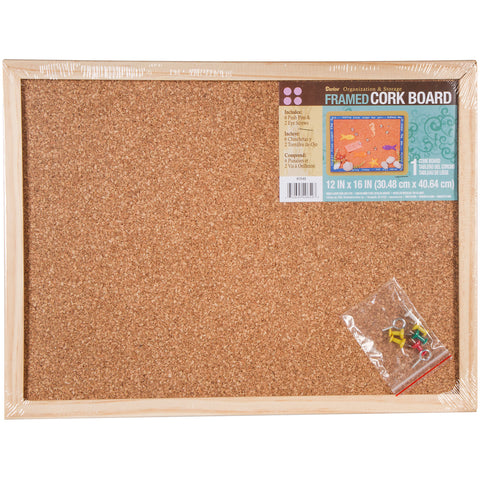 "Framed Cork Memo Board 12""X16"""