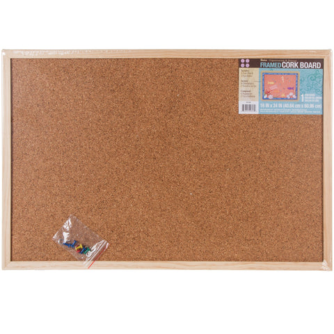 "Framed Cork Memo Board 16""X24"""