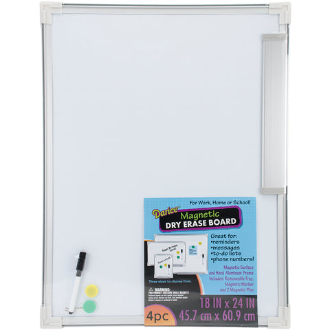 "Magnetic Dry Erase Board 18""X24"""