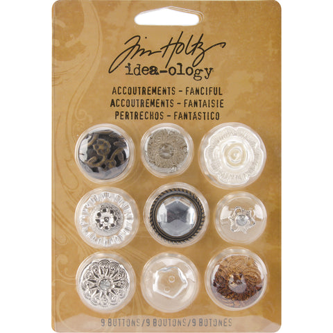 Idea-Ology Accoutrements Buttons 9/Pkg
