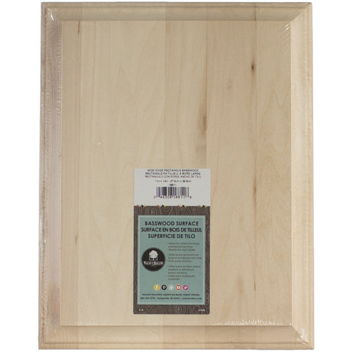 Basswood Rectangle Plaque Wide Edge