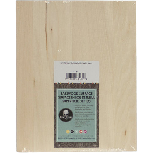 Basswood Rectangle Panel