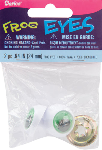 Shank Back Frog Eyes 24mm 2/Pkg