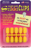 StikkiCLIPS Self-Stick Reusable Paper Holders 10/Pkg