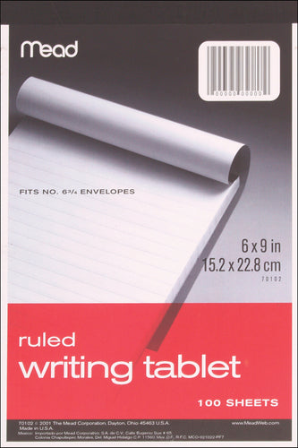 "Mead Ruled Writing Tablet 6""X9"""