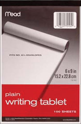 "Mead Unruled Writing Tablet 6""X9"""