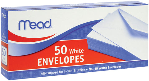 "Mead Boxed Envelopes 4.125""X9.5"" 50/Pkg"