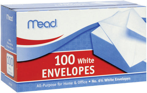 "Mead Boxed Envelopes 3.625""X6.5"" 100/Pkg"