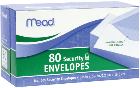 "Mead Boxed Envelopes 3.625""X6.5"" 80/Pkg"