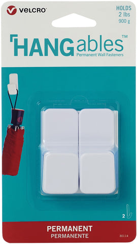 Velcro(R) Brand HANGables Permanent Small Hook 2/Pkg