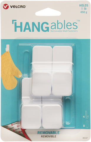 Velcro(R) Brand HANGables Removable Small Hook 4/Pkg
