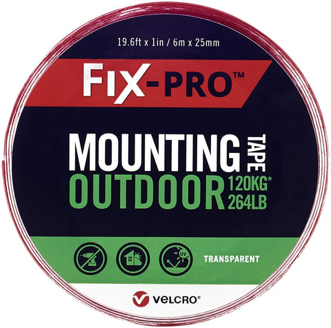 "Velcro(R) Brand Fix-Pro Outdoor Mounting Tape 1""X19.5'"
