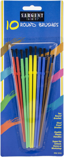 Shed-Proof Bristle Beginner Brush Set 10/Pkg