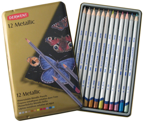 Derwent Metallic Pencils 12/Pkg